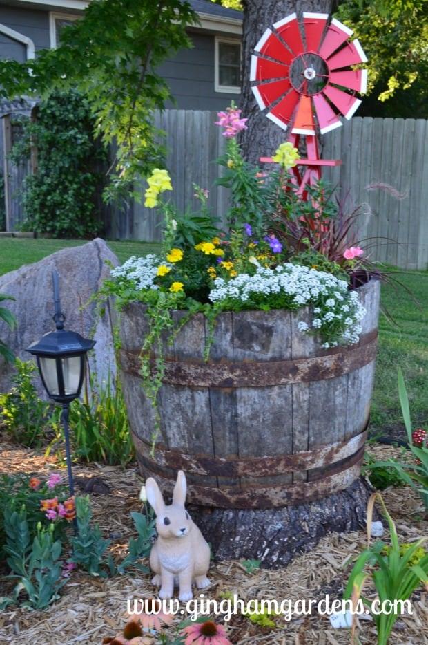 Garden Vignette featuring windmill