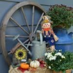 Fall Outdoor Decor Ideas, Outdoor Fall Vignettes featuring flea market finds