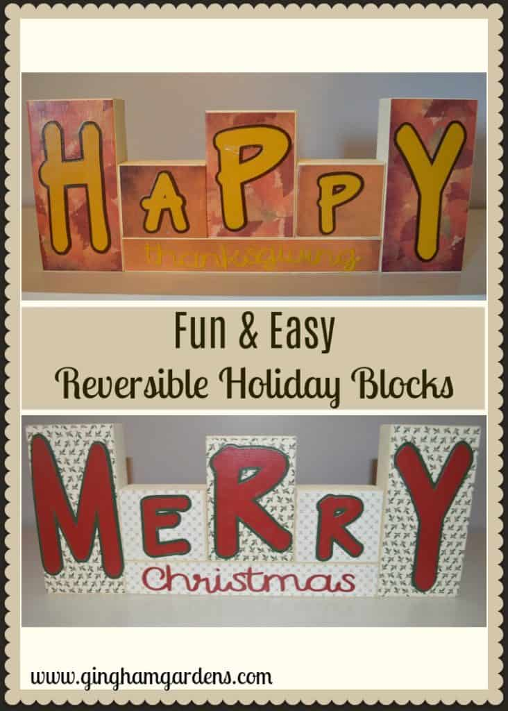 Reversible Holiday Blocks