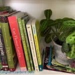 Image of Gardening Books on a Bookshelf