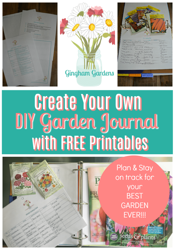picture regarding Printable Garden Journal referred to as Free of charge Gardening Printables - Gingham Gardens