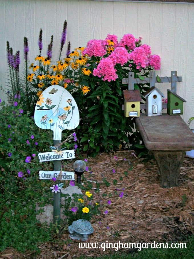 Liatris, Black-eyed Susan and Phlox in a Flower Garden. | Flower Garden Design Tips
