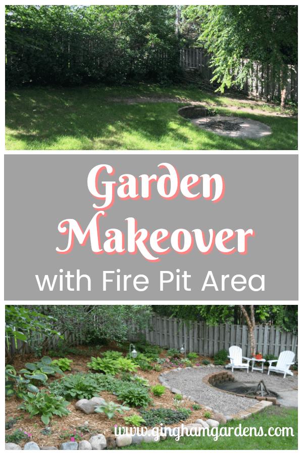 Backyard Shade Garden Makeover w/ Fire Pit