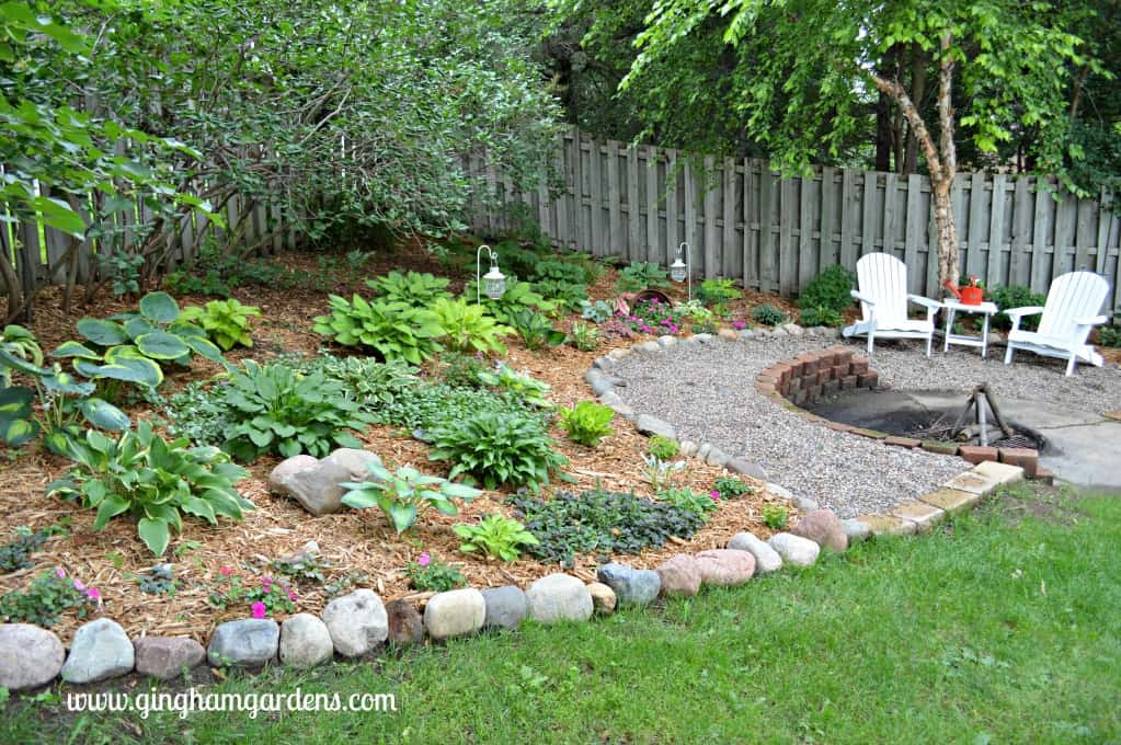 Shade Garden Makeover - After