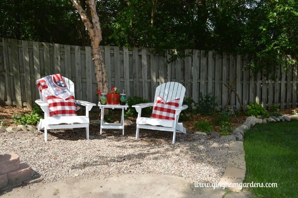 Shade Garden Makeover Seating Area