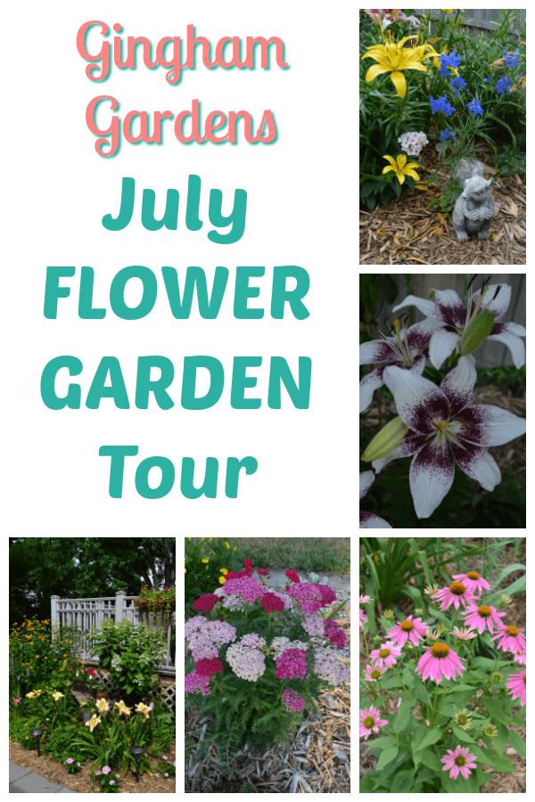 July Flower Garden Tour at Gingham Gardens