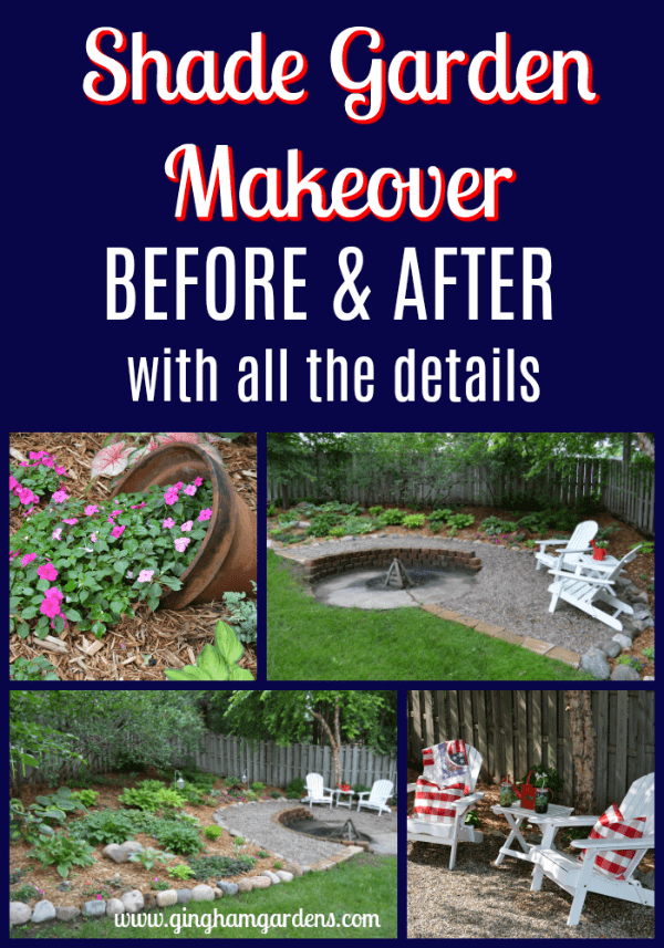 Shade Garden Makeover - Before & After