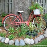 Upcycled Vintage Bicycle in the Garden