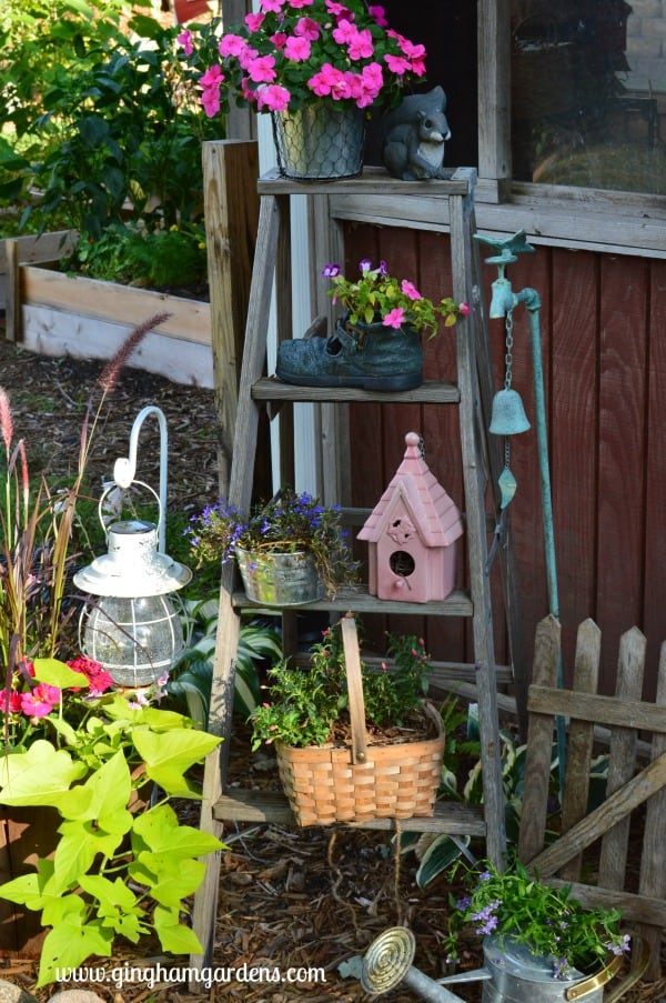 Vintage Ladder in the Garden