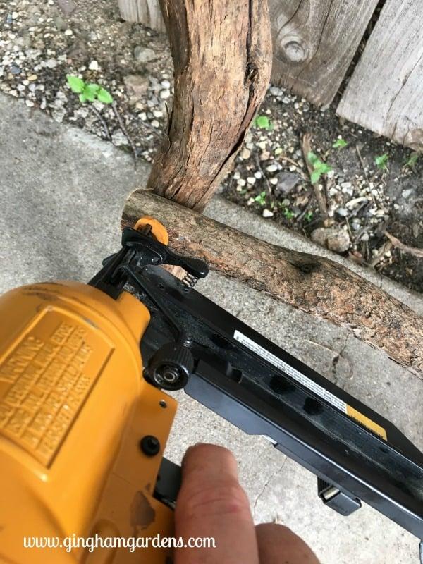 DIY Garden Decor Using Tree Branches