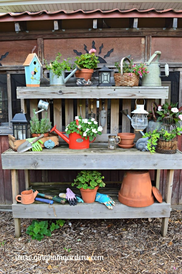 Potting Bench - End of Summer Butterflies & Blooms