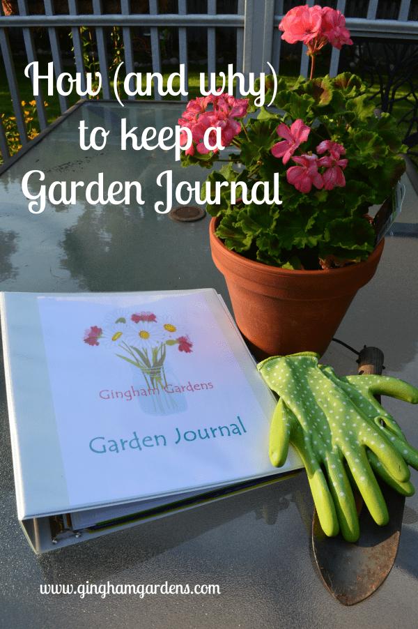 How to Keep a Garden Journal