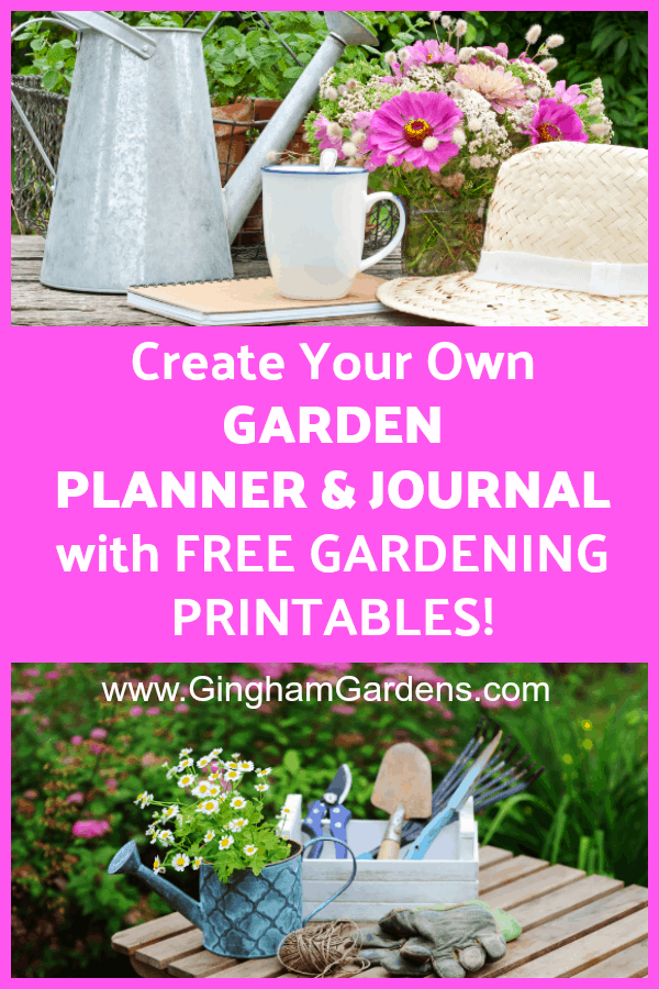 graphic relating to Free Printable Garden Journal identify Do-it-yourself Backyard garden Magazine and Planner - Gingham Gardens