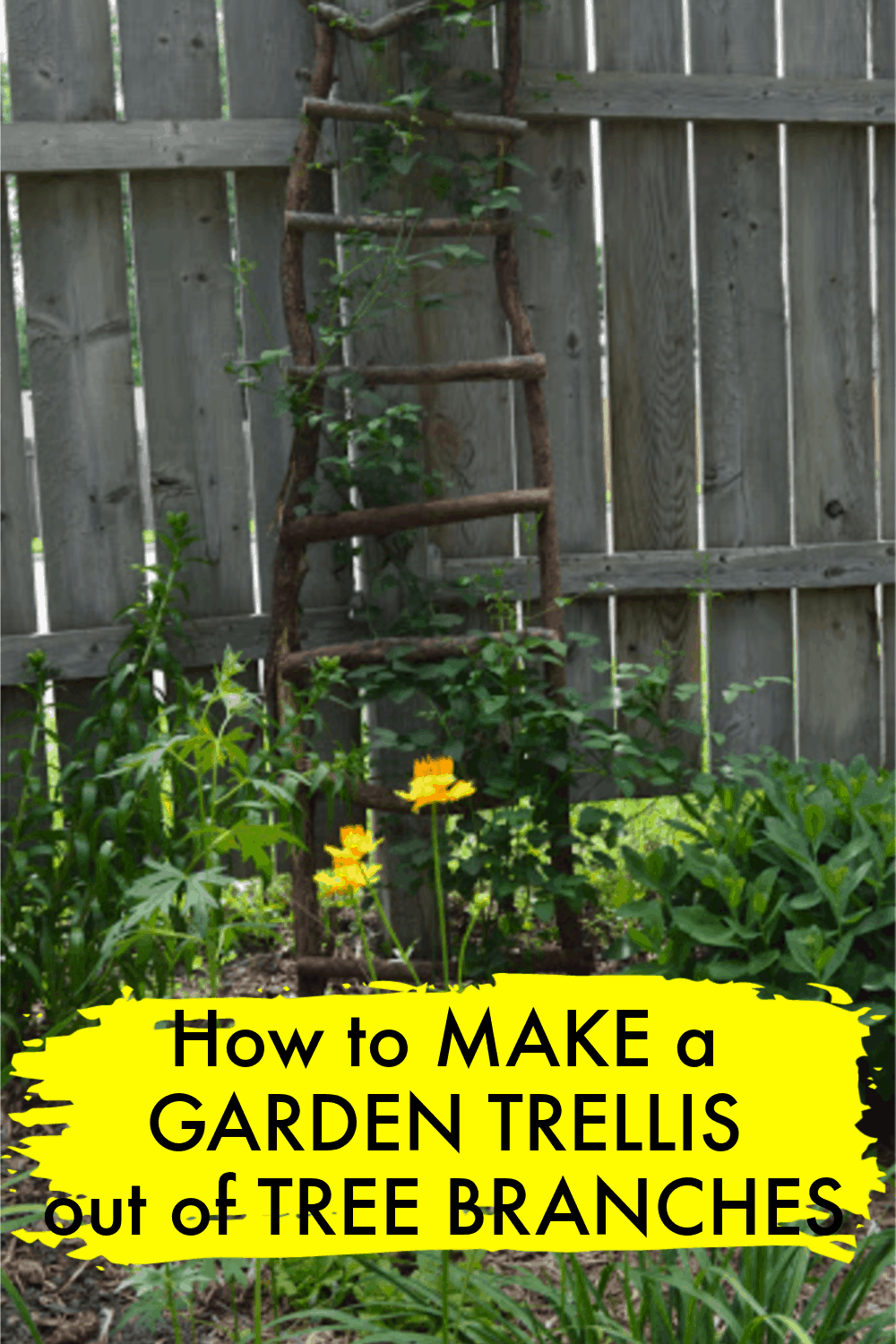 How to Make a Garden Trellis out of Tree Branches