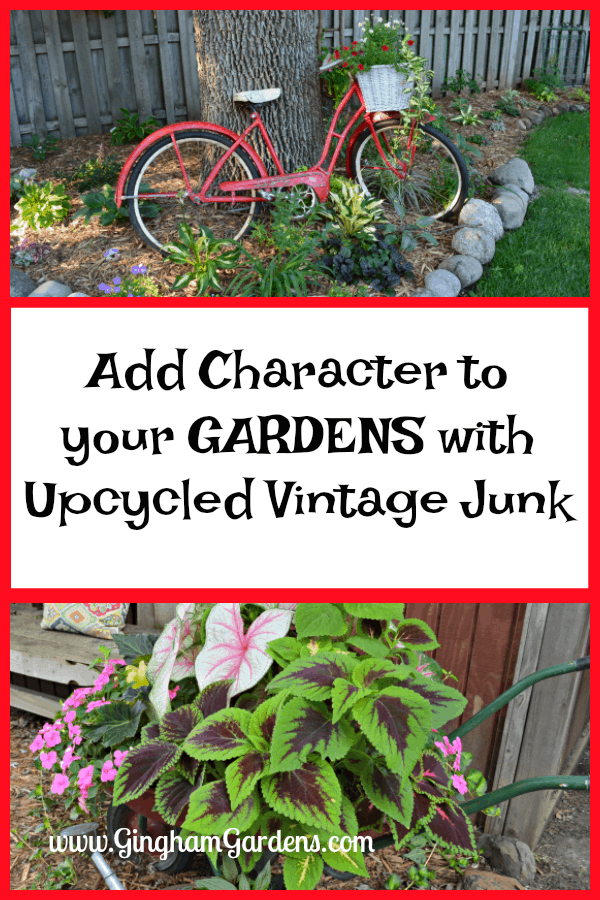 Upcycled Vintage Junk for the Garden