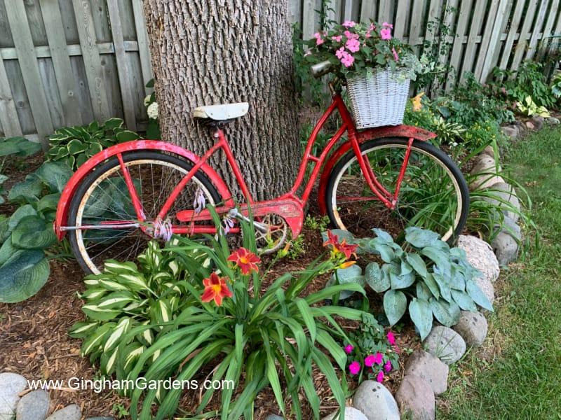 Vintage Bike in a Garden