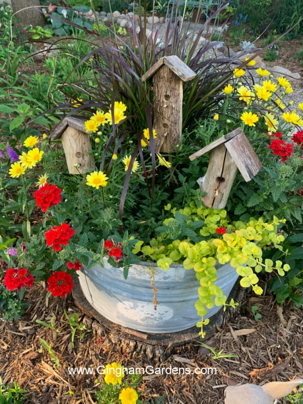 Vintage Washtub Planter