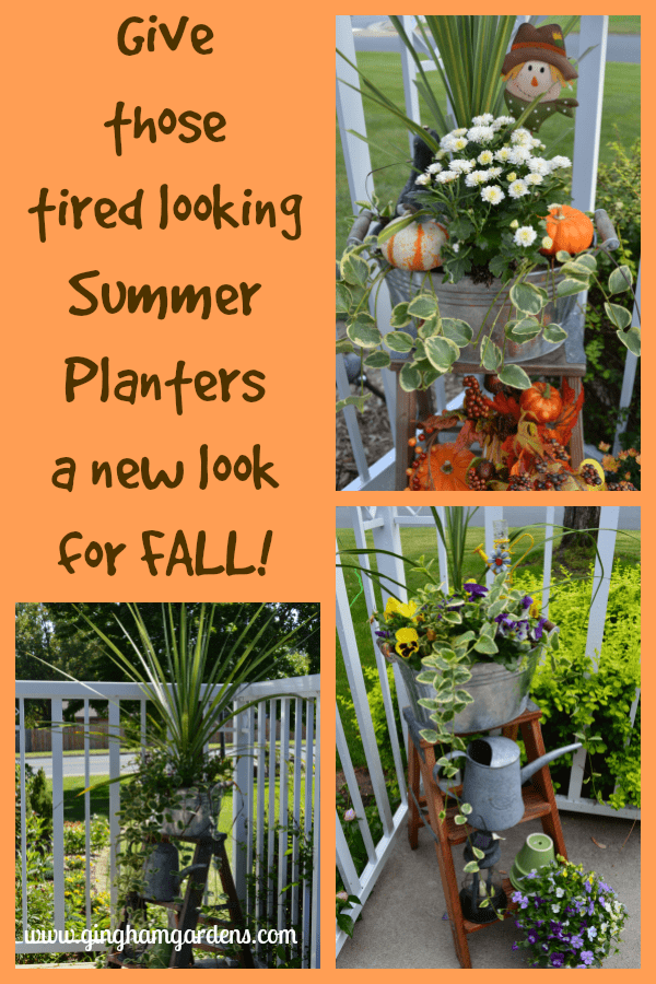 Chainging Summer Planters to Fall