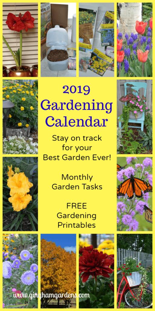 2019 FREE Printable Gardening Calendar