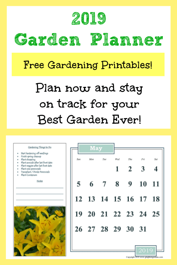 FREE 2019 Garden Planner