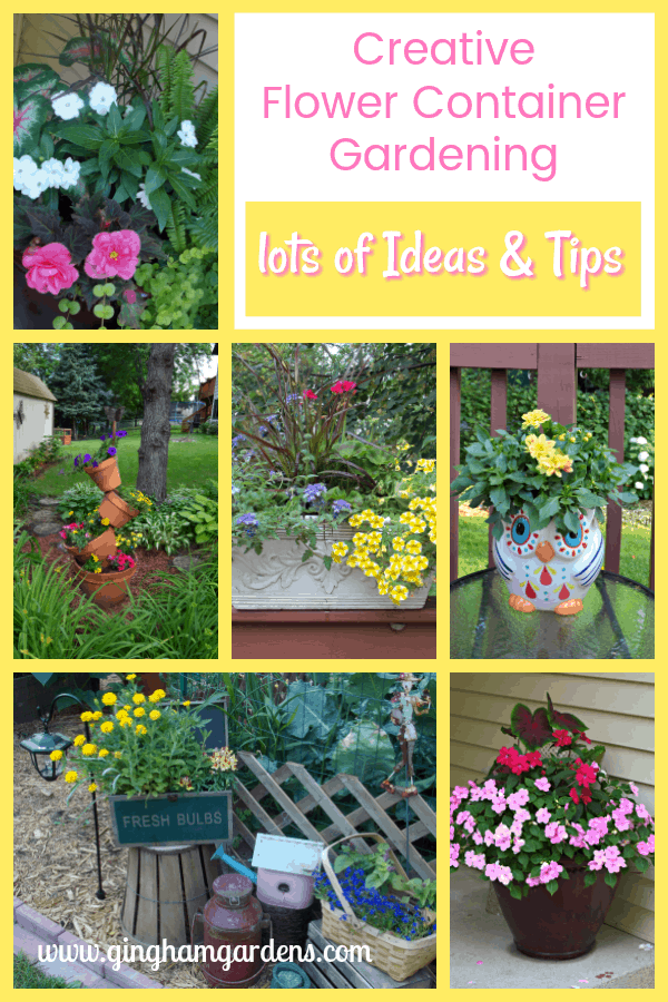 Creative Flower Container Gardening - Ideas & Tips