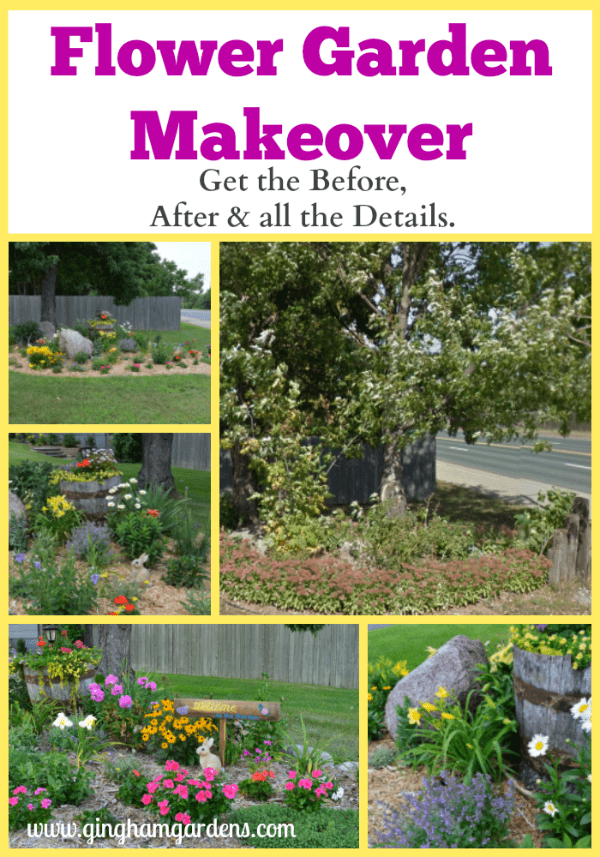 Flower Garden Makeover - Before & After