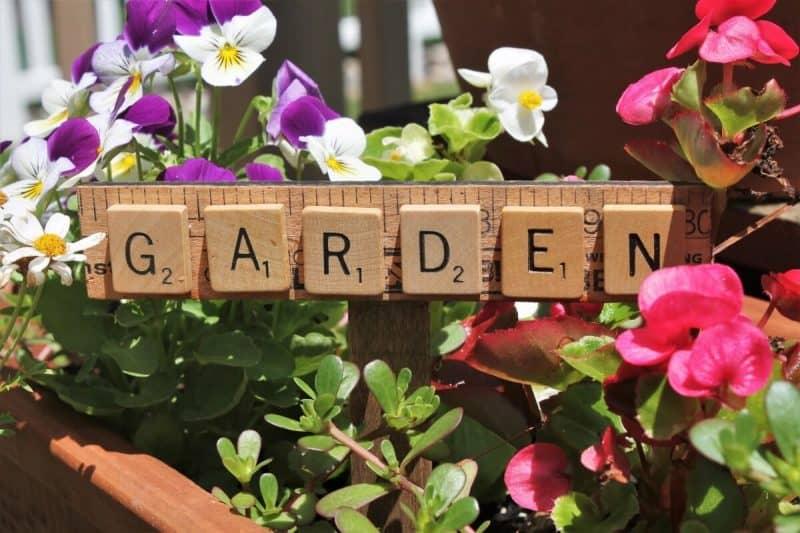 Scrabble Tile Garden Markers