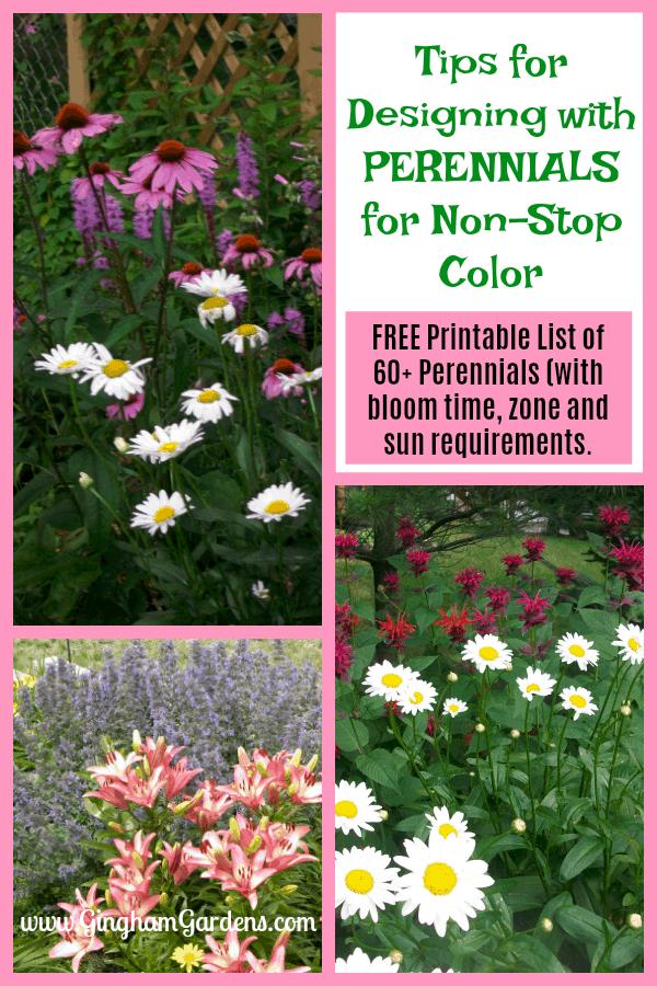 Flower Garden Design with Perennials