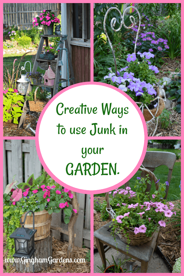 Garden Decorations Using Junk