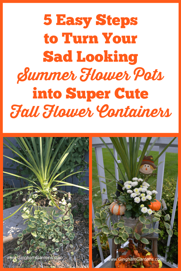 Switch out Summer Flower Containers to Fall