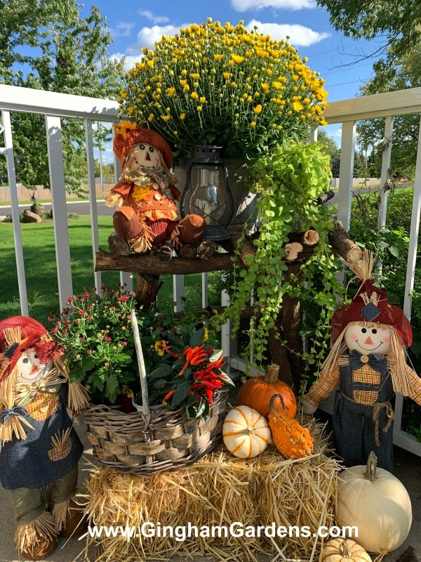 Fall Front Porch Vignette