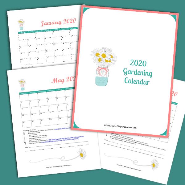 2020 Gardening Calendar