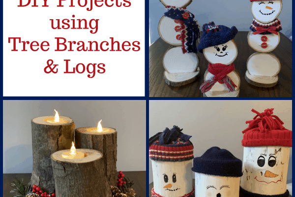 Festive DIY Projects Using Tree Branches and Logs