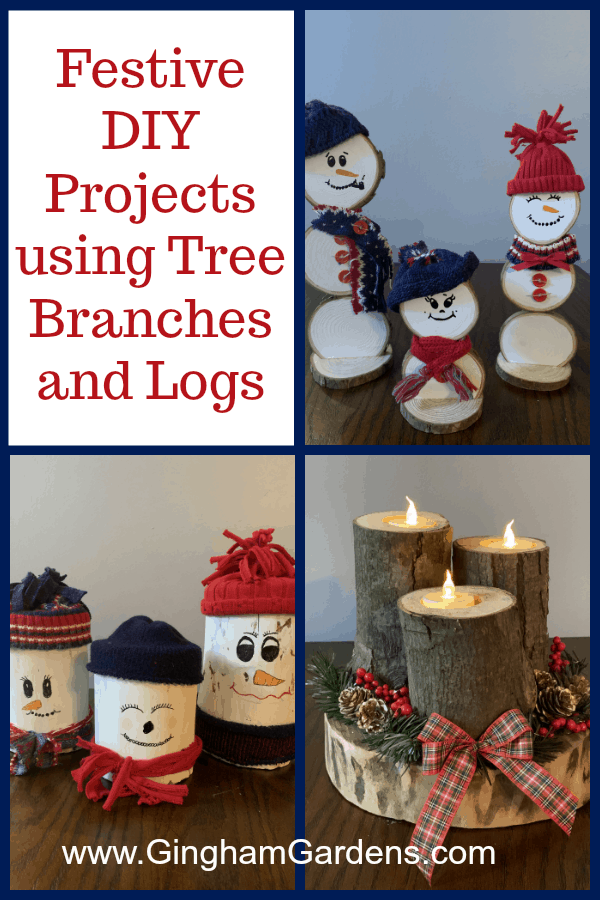 Festive DIY Projects Using Tree Branches & Logs