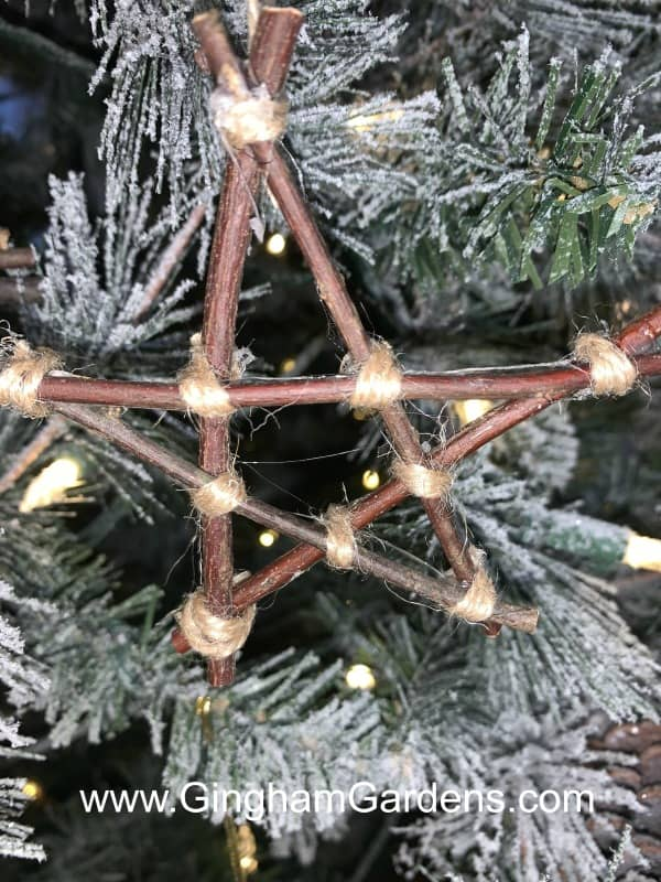 DIY Twig Star Ornament