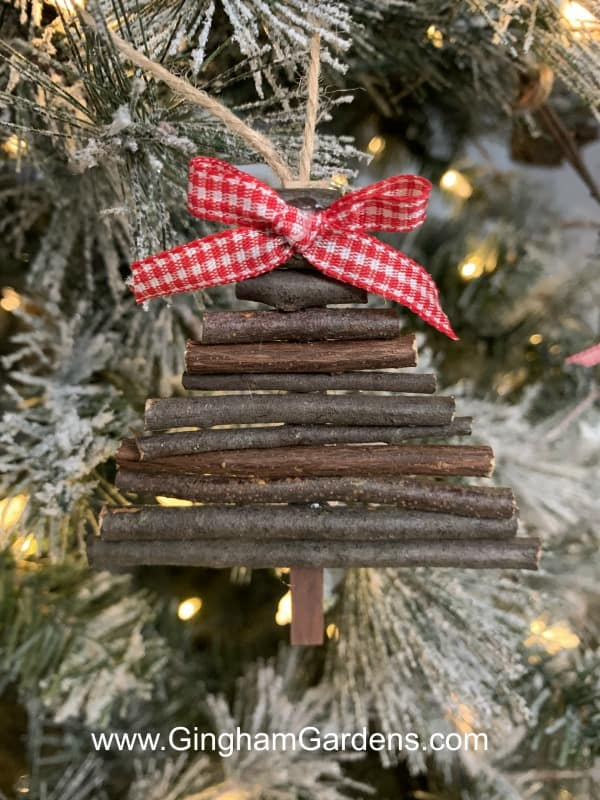 DIY Twig Christmas Tree