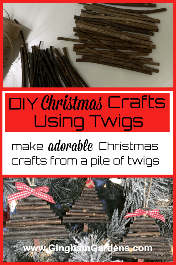 DIY Christmas Crafts Using Twigs