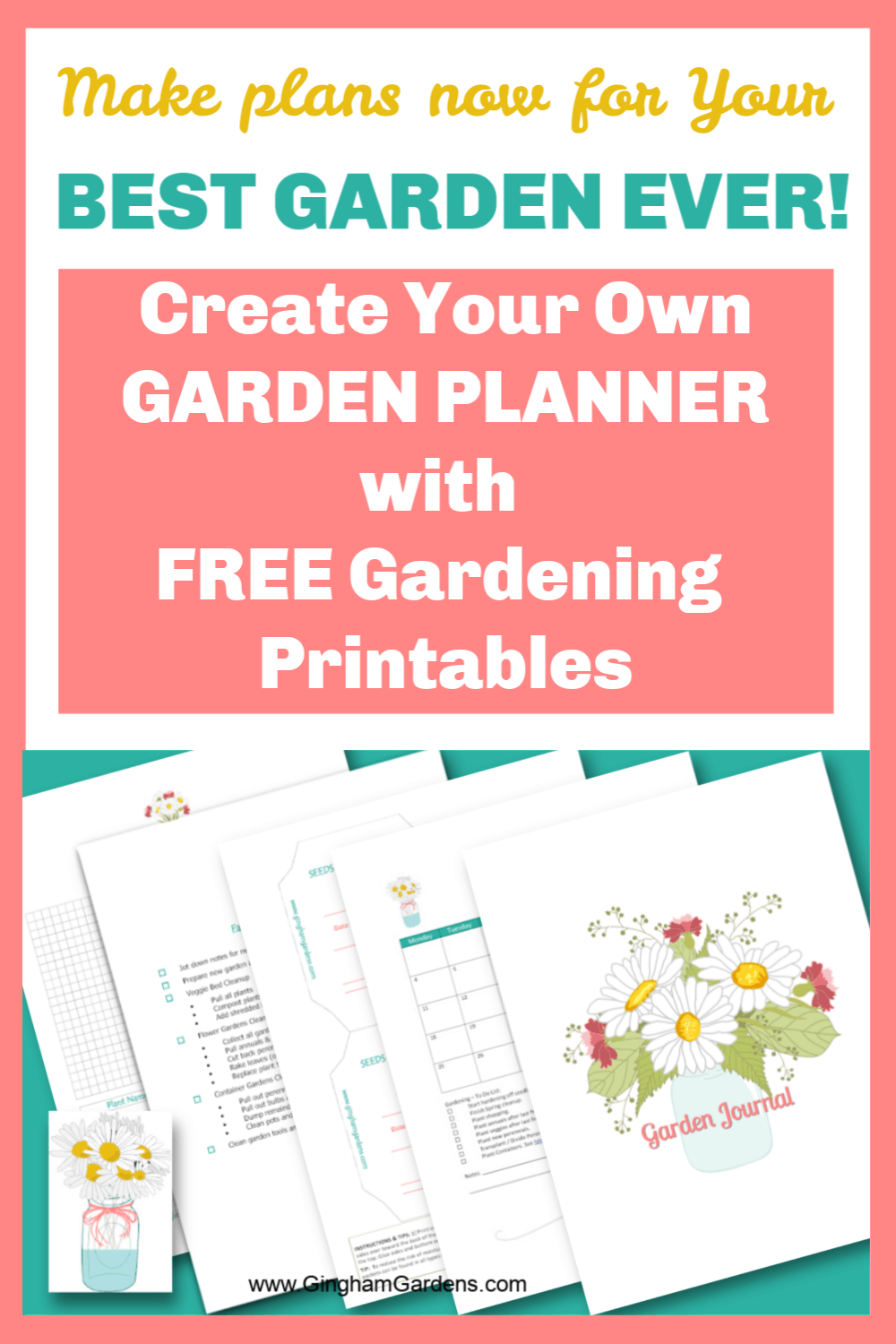 Free Gardening Printables with Text Overlay Create Your Own Garden Planner