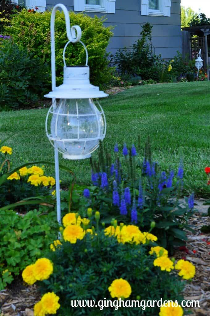 Flower Garden with Solar Landscape Light