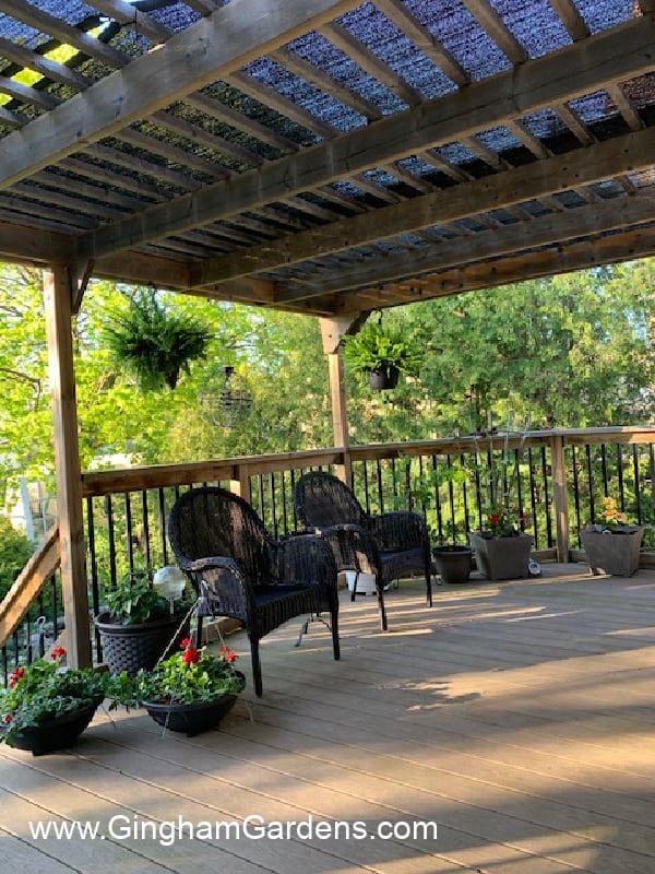 Image of a deck garden room