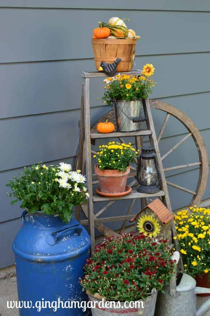 Image of a Fall Outdoor Display