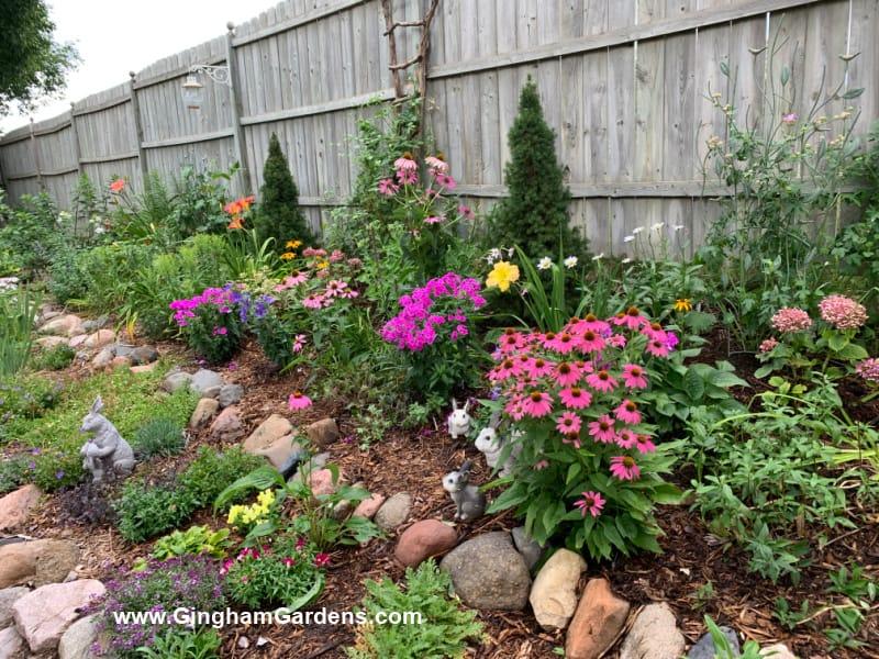 Image of a flower garden at Gingham Gardens