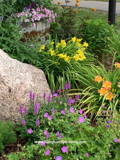 Image of a flower garden in July Flower Garden Tour